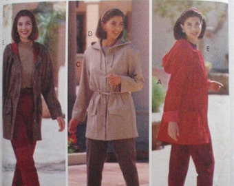 Butterick 5646 Family Circle Sewing Pattern - Hooded Jacket, Top and Tapered Pants - Sizes 12-14-16, Bust 34 - 38, Uncut