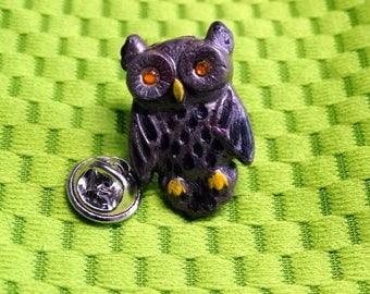 Clay Owl Pin