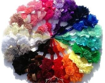 Baby Bloomer, Baby Girl Bloomer, Chiffon Ruffle Bloomer with Shabby Chic Headband, Newborn Bloomers, Ruffle Bloomers, Photo Prop
