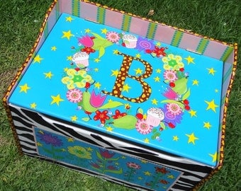 Toy Box Toy Chest Personalized Custom Kid's Toy Box