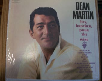 Dean Martin LP Album Hey Brother Pour the Wine by Nanas Vintage Shop on Etsy