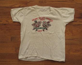 vintage Boy Scouts summer camp t shirt