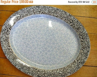 Antique Serving Platter - Extra Large - dish - Gilman Collamore Minton RARE design - China - Clayware