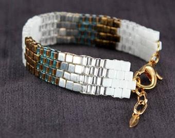 Bridal Bracelet with Zig Zag Pattern