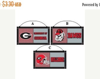 10%OFF Georgia Wooden Decor Sign, Football Decor, Sports Wreath Decorations