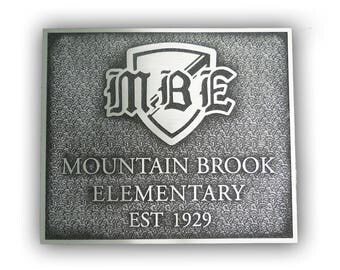 Cast Aluminum Dedication or Memorial Plaque - Sign - Award