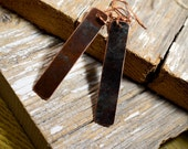 Rectangle Copper Earrings Made From Beautifully Patinaed Reclaimed Copper - ReaganJuel: Reclaimed20