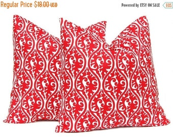 30% Off Sale Red Pillow Covers - Decorative Pillow Covers - Red and White - Red Cushion Covers  - Christmas Pillow Covers - Kimoni by Premie