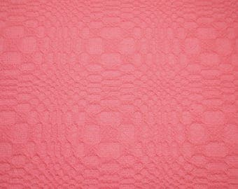 Lovely Rose Pink Morgan Jones Woven Cotton Knit NOS Vintage Bedspread Fabric - 36 by 24 Inches