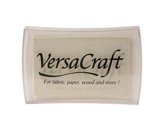 White Versacraft Inkpad, Tsukineko Multipurpose Opaque Ink for Paper, Fabric, Wood and more