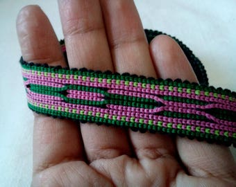 Uzbek handwoven cotton trim Jiyak. Tribal ethnic, boho, hippy trim. TR027