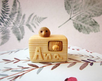 Made to Order, personalized miniature drawer, wood carving, miniature art, wood box, Unique gift, Personalized Gifts, miniature bird