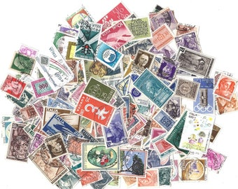 20 ITALY stamps collection - Cute vintage Italian assorted STAMP set