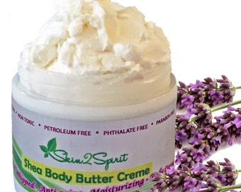LAVENDER & CHAMOMILE Fair Trade Shea Body Butter Creme - Truly Natural - No Synthetic Fragrances - No Toxins - REAL Chocolate / 4 oz.