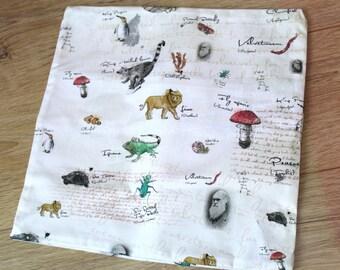 Charles Darwin's Sketchbook - cushion cover