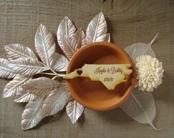 130 North Carolina State Wedding Favors Custom Engraved