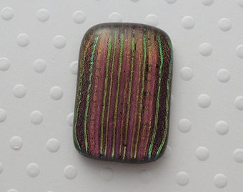 Dichroic Fused Glass Cabochon - Gem Stone - Cabochon Cab - Bead Supply- Glass Bead - Wire  - Jew - Stained Glass 3207