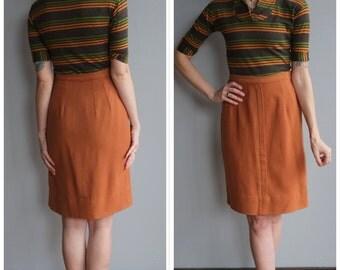 1950s Wool Skirt // Early Sunset Wool Skirt // vintage 50s skirt