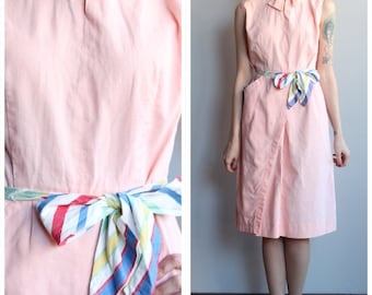 1930s Dress // Ava Jane Kay Cotton Dress // vintage 30s dress