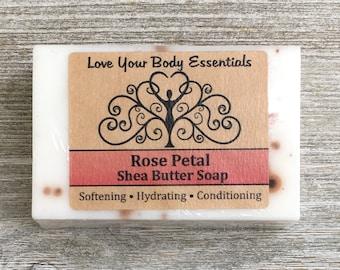 Rose bar soap,  rose shea butter soap, rose bar soap, rose soap,  floral scented soap, rose glycerin soap, natural soap