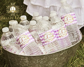 Spring Blooms Water Bottle Labels by Loralee Lewis