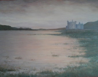 Kilchurn Castle  Loch Awe  Scotland   Oil Painting.