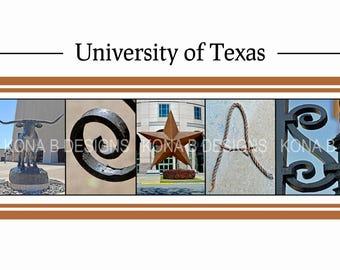University of Texas Gift, Personalized Longhorns gift, Graduation Gift for University of Texas, 10x20 Choose framed or unframed