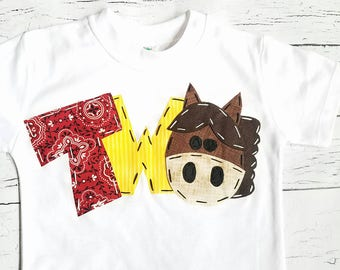 2nd barnyard birthday shirt, two, horse, 2nd,  t shirt, barn yard, farm theme, boy