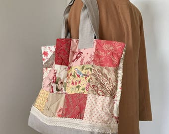 Linen Tote bag with coin purse
