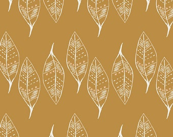 SALE, Nursing pillow cover - Gust of Leaves Gold