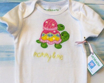 Mommy and Me Turtle Onesie