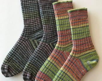 Women's Knitted Socks, Stretch Socks, Hand Cranked