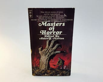 Vintage Horror Book Masters of Horror 1968 Paperback Anthology