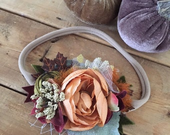 Fall harvest boho flower headband