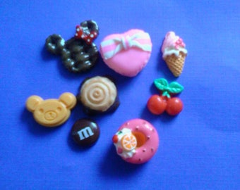 Sale sale---kawaii sweets cabochon mix  decoden deco diy charms  B  8 pcs---USA seller