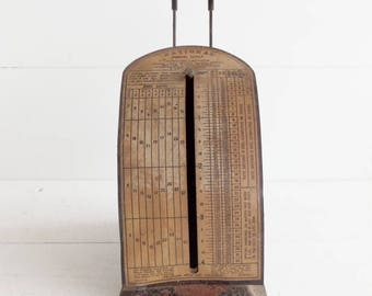 Antique Postal Scale, Pelouze Letter Scale, Vintage Postal Scale, Vintage Office Decor