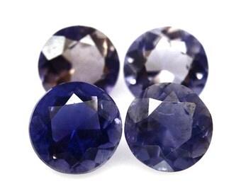 IOLITE (32416) PARCEL (4 Gems)  Round 6mm Blue Iolite - Faceted