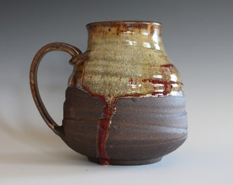 EXTRA LARGE Mug, 44 oz, handthrown ceramic mug, stoneware pottery mug, unique coffee mug