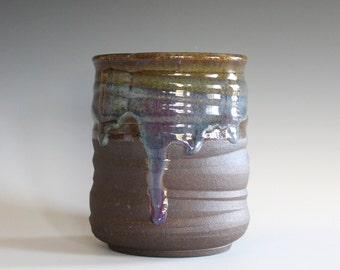 Utensil Caddy, Ceramic Vase, Utensil Holder, Pottery Vase, Utensil Crock, Ceramics and Pottery, Ceramic Wine Holder