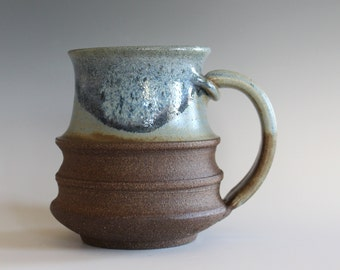 Coffee Mug Pottery, 12 oz, handmade ceramic cup, handthrown mug, stoneware mug, pottery mug, unique coffee mug, ceramics and pottery