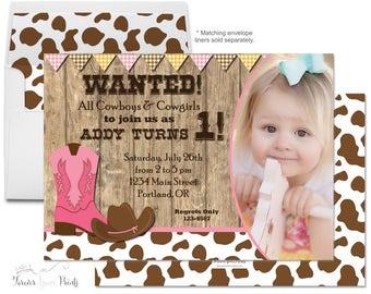 Cowgirl Birthday Invitation - Cowgirl Birthday Invite - Cowgirl Party Invitation - Cowgirl Party Invite - Western Birthday - Rodeo Invite