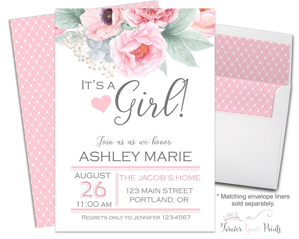 Its A Girl Baby Shower Invitations is perfect invitations template