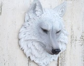 ON SALE Wolf Head~Wolf Decor~Game Of Thrones~ Native American Decor~Wolf Head Wall Sculpture~Faux Animal Head