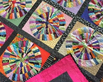 Broken dishes patchwork quilt (51x51)