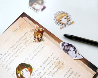 45 Pcs Elf Girl Planner Stickers - Washi Tape Masking Tape Decorative Paper Sticker