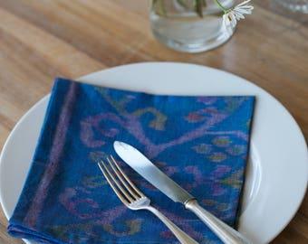 GENUINE IKAT hand woven cloth napkins -  Balinese Ikat
