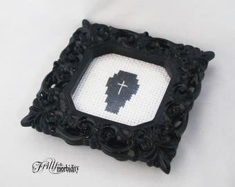 Coffin Cross-Stitch Mini