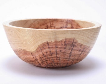 "Hickory Wooden Bowl #1537 6 1/2"" X 2 3/4"""