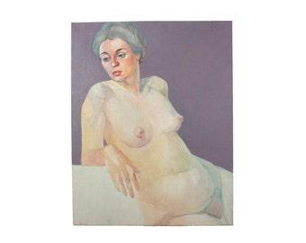 Vintage Nude Portrait - Original Artwork - Oil on Canvas
