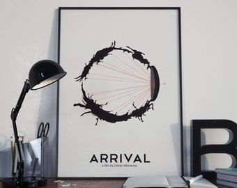 Sight Unseen // Arrival Inspired Alternate Movie Poster // Science Fiction Alien Language Iconography and Stylized Eye Graphic